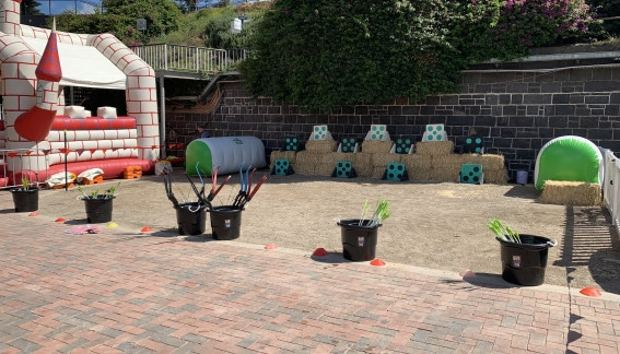 Archery Attack family day event set up